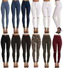 WOMENS HIGH WAISTED STRETCHY SKINNY JEANS LADIES JEGGINGS PANTs 6 to 22