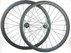 Disc brake Thru axle 15mm front 38mm tubular carbon cyclocross bike wheels