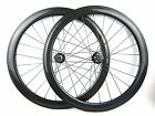 Disc brake Thru axle 15mm front 60mm Clincher carbon cyclocross bike wheels