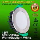 6/12 X 10W/13W/18W DIMMABLE LED DOWNLIGHT KIT WARM WHITE OR DAYLIGHT WHITE IP44