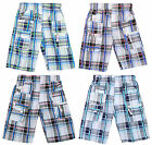 Boys Checked Combat Pocket Summer Fashion Modern Board Shorts 3 to 12 Years