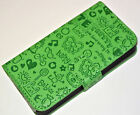 Love Valentine Design Leather Wallet Case Cover For iPhone 4 4S iPhone 5/5s/SE