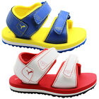 Puma Rundal ll Kids Sandals Toddlers Youths Red White Yellow Blue 349681 P3