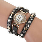 2015 Hot Fashion Women Vintage Leather Bracelet Watch Analog Quartz Ladies Watch