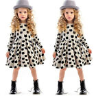 2015 New Baby Kids Girls Party Black Cat Print Summer Dress Tutu Dress Skirt 2-7