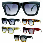 SA106 Retro Womens Thick Plastic Nerdy Geek Horn Rim Sunglasses