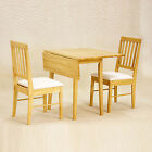 Drop Leaf Dining Table with 2 Chairs Set - 46cm-92cm - Extendable Small Table