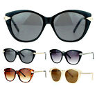 SA106 Womens Retro Arrow Trim Designer Fashion Butterfly Sunglasses