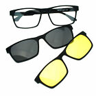 Mens Magnetic Polarized Antiglare Driving Clip On Sunglasses Glasses
