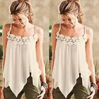 Sexy Fashion Women Summer Lace Vest Sleeveless Blouse Casual Tank Tops T Shirt