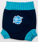 SLASH ABOUT BABY SWIM NAPPY & SUN SAFE HAPPY NAPPY - NAVY BLUE LAGOON