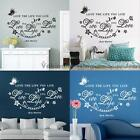 Quote Love The Life You Live DIY Wall Sticker Removable Art Decals Home Decor