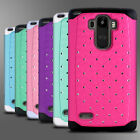 For LG G Stylo Hybrid Diamond Bling Cute Case Dual Layer Protective Phone Cover