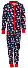 Boys Navy England Flag Print All in One Sleepsuit Cotton Romper 2 to 12 Years