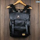 Retro Mens Casual Fashion Handbag Travel Outdoor leather Backpack laptop bags