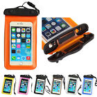 """Waterproof Underwater Pouch Dry Bag Case Cover For 4-6"""" Cell Phone Touchscreen"""