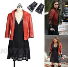 The Avengers 2 Age of Ultron Wanda Scarlet Witch Cosplay Costume Full Set