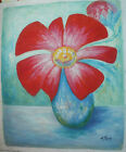 FLOWER ART 30 IMAGES 2 CHOOSE FROM 3 OIL PAINTING ROLLED OR STRETCHED 20X24""