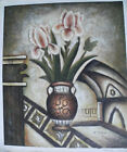 FLOWER ART 30 IMAGES 2 CHOOSE FROM 5 OIL PAINTING ROLLED OR STRETCHED 20X24""