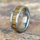 Men's Hawaii Solid Bocote Wood Tungsten Wedding Ring Band 8mm # CRG-1002-08
