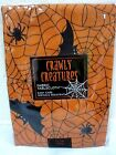 Halloween Crawly Creatures Spooky Bat Spider Fabric Tablecloth Decor U PICK SIZE