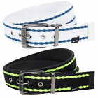 Nike Golf Mens Reversible Web Belt to Leather Belt Black or White pic size color