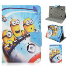 """7"""" 8"""" 10"""" Despicable me 2 Minions Cartoon Universal tablet case PU Leather cover"""