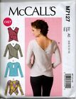 McCall's 7127 Easy Knit Top Wrap Back Keyhole Ladies Shirt Sewing Pattern NEW