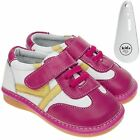 Girls Toddler Leather Squeaky Shoes Hot Pink Trainers Style & Shoe Horn