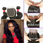3pcs Brazilian Body Wave Hair Bundles With 1pc Lace Closure Human Hair Weave 6A