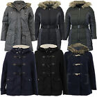 Ladies Parka Jacket Brave Soul Womens Coat Fish Tail Padded Hooded Quilted New