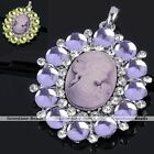 Crystal Rhinestone Cameo Women Beauty Pendant Charm Bead For Necklace DIY Gift