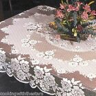 Heritage Lace VICTORIAN ROSE Tablecloths Round or Rectangle color White or Ecru