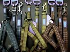 PADDED DOG & CO HEM AND BOO COUNTRYCHECK PATTERN NYLON COLLAR or LEAD or HARNESS