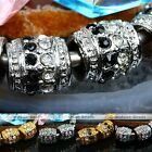 5x Barrel Crystal DrumBig Hole European Spacer Loose Bead Fit Charm Bracelet