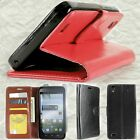 Wallet Pouch Flip Protective Phone Cover Case with Screen for ZTE Quartz Z797C
