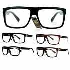 SA106 Mens Mob Flat Top Rectangular Plastic Frame Clear Lens Eye Glasses
