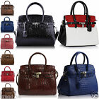 Womens Designer Handbags Ladies Tote Shoulder Bags Satchel Ostrich New Leather