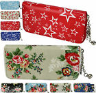 Ladies Womens Fashion Large Floral Faux Leather Handy Wallet Girls Coin Purse