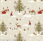 CHRISTMAS WONDERLAND WIPE CLEAN OILCLOTH COVER PVC TABLECLOTH click for sizes
