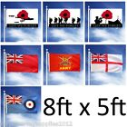 GIANT 8FT X 5FT MILITARY FLAG BRITISH ARMY RAF ENSIGN NAVY LEST WE FORGET