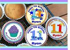 24 PERSONALISED 11th BIRTHDAY DESIGN 2 CUPCAKE TOPPER RICE, WAFER or ICING