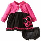 Youngland girl's dress cardigan set Long sleeves ruffled Infant size 18M NEW