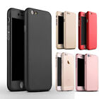 360 Full Body Protector Genuine Slim Case Cover For iPhone 5 5S SE 6 6S 7 Plus