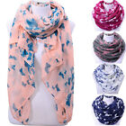 Womens Ladies Butterfly Neck Wrap Large Soft Voile Scarf Shawl Stole Scarves