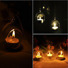 Chic New Crystal Glass Hanging Candle Lantern Romantic Wedding Party Candlestick