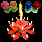 CHIC Musical Lotus Sparkler Flower Candles Romantic Party Gift Happy Birthday