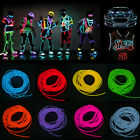 8 Colors LED Flash Decor Flexible Neon Light Glow EL Strip Tube Wire Rope 3M/5M