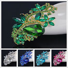 Grace Large Flower Women Lady Party Crystal Rhinestone Silver Brooch Pin ON SALE