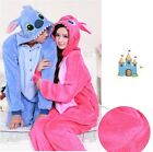 Unisex Adult Pajamas Kigurumi Onesie Animal Sleepwear Stitch Cosplay Dress Shoes